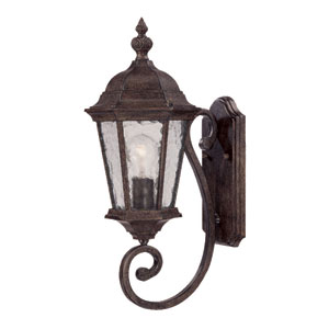 Telfair Black Coral One-Light 20-Inch Outdoor Wall Mount