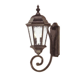 Telfair Black Coral Two-Light 24.5-Inch Outdoor Wall Mount