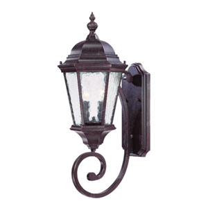 Telfair Marbleized Mahogany Two-Light 24.5-Inch Outdoor Wall Mount