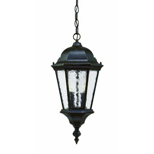 Telfair Marbleized Mahogany Two-Light 20-Inch Outdoor Pendant