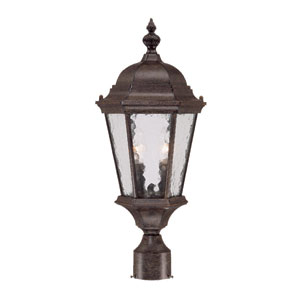 Telfair Black Coral Two-Light 21.5-Inch Outdoor Post Mount