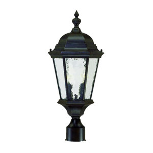 Telfair Marbleized Mahogany Two-Light 21.5-Inch Outdoor Post Mount