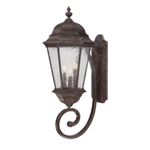 Telfair Black Coral Three-Light 30.75-Inch Outdoor Wall Mount