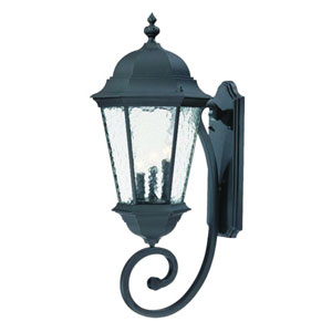 Telfair Matte Black Three-Light 30.75-Inch Outdoor Wall Mount