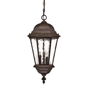 Telfair Black Coral Three-Light 25.5-Inch Outdoor Pendant