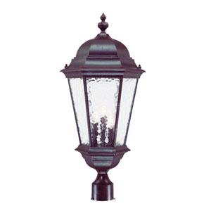 Telfair Marbleized Mahogany Three-Light 27-Inch Outdoor Post Mount