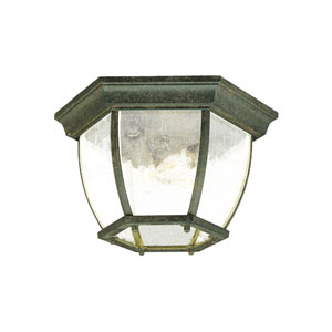 Black Coral Flushmounts Three-Light Ceiling Fixture