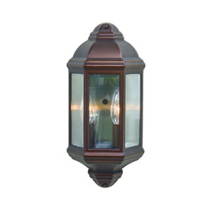 Architectural Bronze Two-Light Outdoor Wall Mount with Clear Beveled Glass