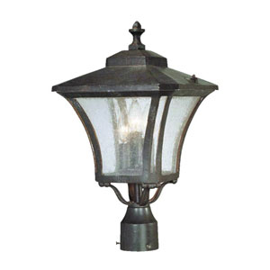 Tuscan Marbleized Mahogany Three-Light 19.5-Inch Outdoor Post Mount