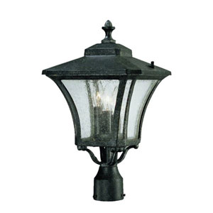 Tuscan Stone Three-Light 19.5-Inch Outdoor Post Mount