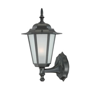 Camelot Small Wall Lantern with Matte Black Finish