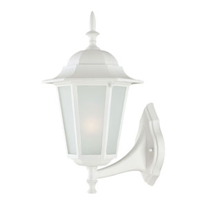 Camelot Small Wall Lantern with Textured White Finish