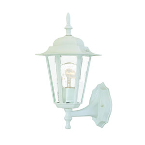 Camelot Textured White One-Light Wall Fixture