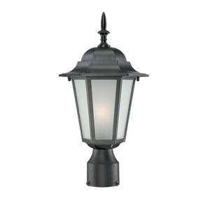 Camelot Medium Post Lantern with Matte Black Finish