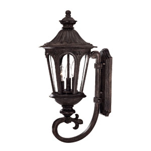 Marietta Black Coral Three-Light 24.5-Inch Outdoor Wall Mount