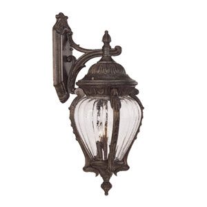 Nottingham Black Coral Three-Light 26-Inch Outdoor Wall Mount