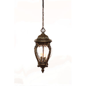 Nottingham Black Coral Three-Light Hanging Fixture