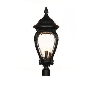 Nottingham Matte Black Four-Light 26.75-Inch Outdoor Post Mount