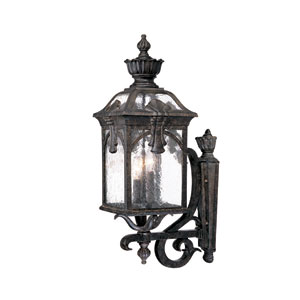 Belmont Black Coral Three-Light 24.5-Inch Outdoor Wall Mount