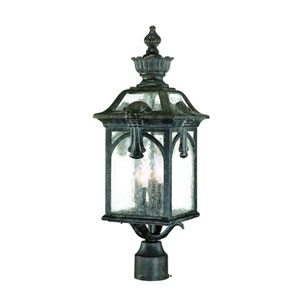 Belmont Black Coral Three-Light 24-Inch Outdoor Post Mount