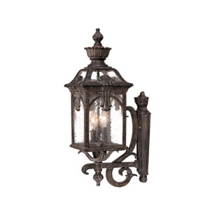 Belmont Black Coral Three-Light 28.5-Inch Outdoor Wall Mount