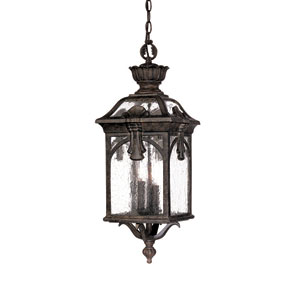 Belmont Black Coral Three-Light 26-Inch Outdoor Pendant