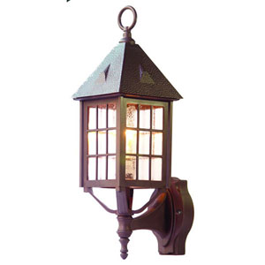 Outer Banks Architectural Bronze One-Light 20-Inch Outdoor Wall Mount