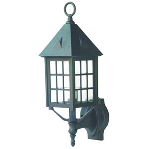 Outer Banks Matte Black One-Light 20-Inch Outdoor Wall Mount
