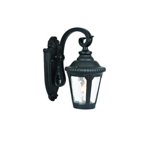 Surrey Matte Black One-Light 12.25-Inch Outdoor Wall Mount