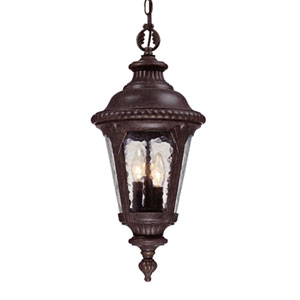 Surrey Three-Light Black Coral Hanging Lantern