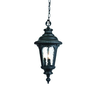 Surrey Matte Black Three-Light 21.5-Inch Outdoor Pendant