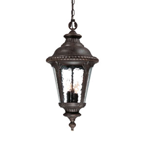 Surrey Black Coral Three-Light Hanging Fixture 25 Inch Tall