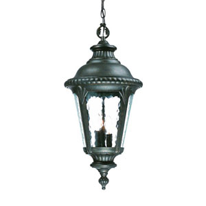 Surrey Black Gold Three-Light 25-Inch Outdoor Pendant