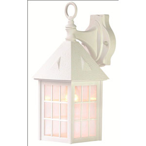 Outer Banks Textured White One-Light 16-Inch Outdoor Wall Mount