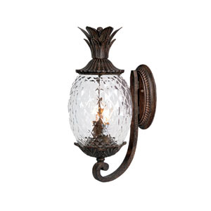 Lanai Black Coral Two-Light 18-Inch Outdoor Wall Mount