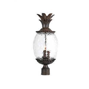 Lanai Black Coral Three-Light 22.25-Inch Outdoor Post Mount