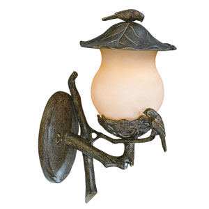 Avian Black Coral Two-Light 16.5-Inch Outdoor Wall Mount