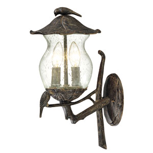 Avian Black Coral Two-Light Wall Lantern