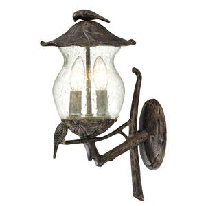 Avian Black Coral Two-Light Wall Lantern