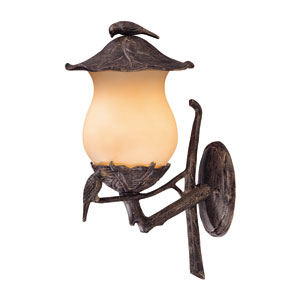 Avian Black Coral Two-Light 20.75-Inch Outdoor Wall Mount