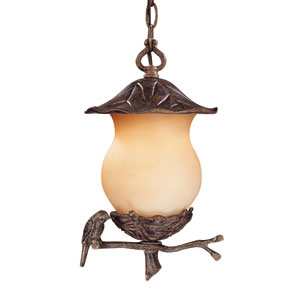 Avian Black Coral Two-Light 13.5-Inch Outdoor Pendant