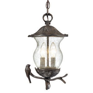 Avian Black Coral Two-Light Hanging Lantern