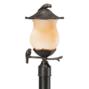 Avian Black Coral Two-Light 18.5-Inch Outdoor Post Mount