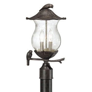 Avian Black Coral Two-Light Post Lantern