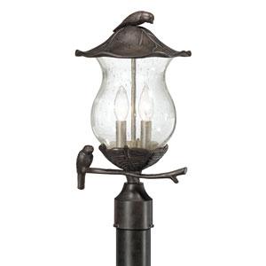 Avian Black Coral Two-Light Post Lantern