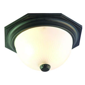 Outer Banks Matte Black Two-Light Ceiling Fixture