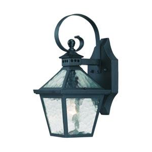 Bay Street Matte Black One-Light 14-Inch Outdoor Wall Mount