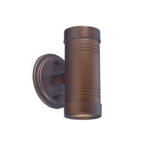 Architectural Bronze Two-Light Outdoor Wall Mount