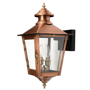 Jamestown Copper Patina 12-Inch Two-Light Outdoor Wall Mount