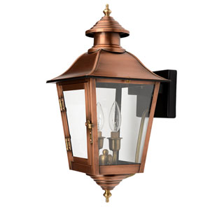 Natchez Copper Patina Nine-Inch Two-Light Outdoor Wall Mount